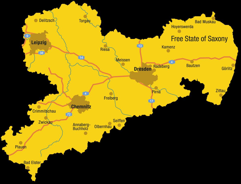 Map Of Germany Showing Dresden.The Dresden Zwinger Dresdner Zwinger