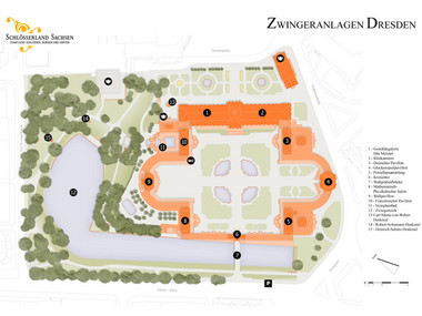 Site Map of the Zwinger